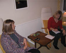 Akashic consultant Alison King assists Elizabeth Chadwick with her research