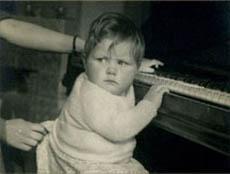 Elizabeth Chadwick as a baby