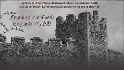 Framlingham Castle, the setting of the Time of Singing by Elizabeth Chadwick