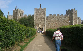 The entrance to Framlingham Castle, Suffolk