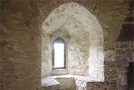 Window in a Medieval castle