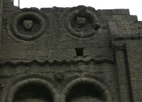 A photo of the ornate wall detail at Castle Rising in Norfolk