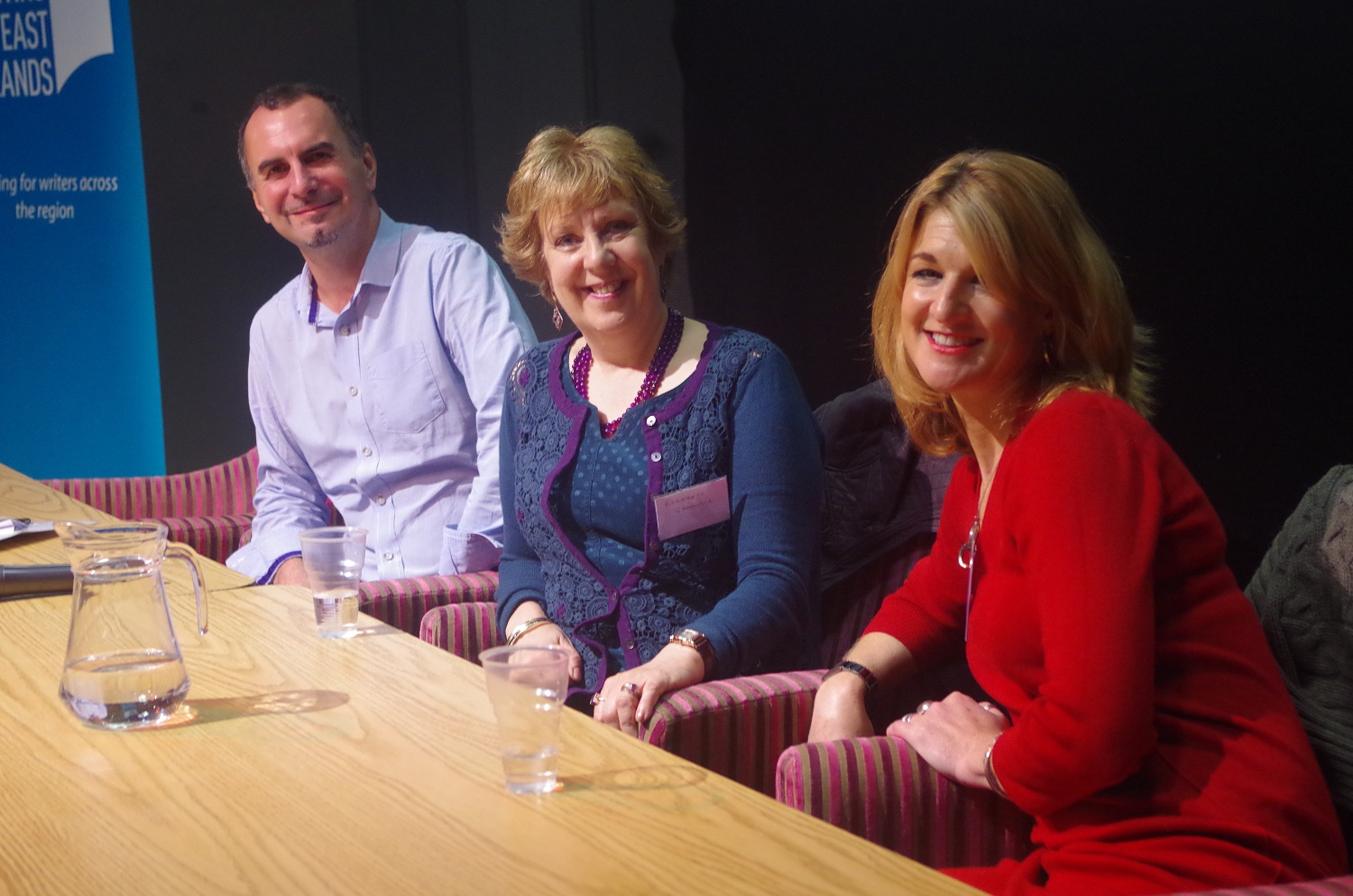 10 James Wilde, Elizabeth Chadwick Clare Harvey at Derby Writers' Day October 2015