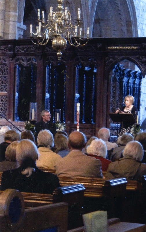 9 Giving the William Marshal Founder's Day Lecture at Cartmel Priory
